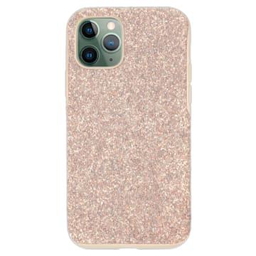 Coque rigide pour smartphone avec cadre amortisseur High, iPhone® 12/12 Pro, rose - Swarovski, 5599157