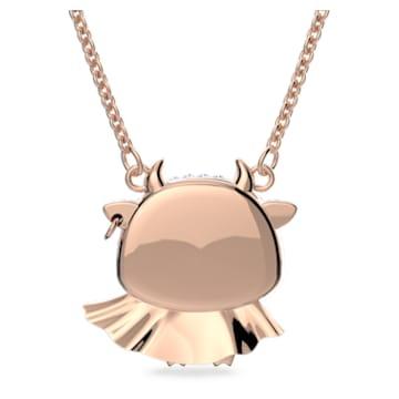 Little 链坠, 牛, 紫色, 镀玫瑰金色调 - Swarovski, 5599162