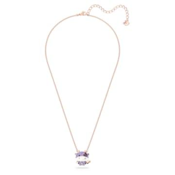 Little Pendant, Violet, Rose-gold tone plated - Swarovski, 5599162