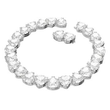 Collana Millenia, Cristallo taglio Trilliant, Bianco, Placcato rodio - Swarovski, 5599167