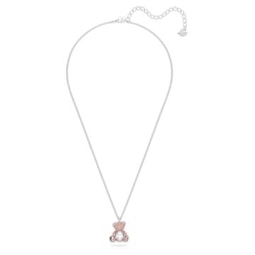 Teddy 链坠, Teddy, 粉红色, 镀铑 - Swarovski, 5599168