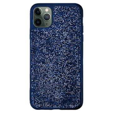 Étui pour smartphone Glam Rock, iPhone® 12 mini, Bleu - Swarovski, 5599173