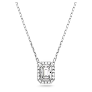 Millenia Halskette, Swarovski Zirconia im Oktagon-Schliff, Weiss, Goldlegierung - Swarovski, 5599177