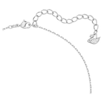 Millenia Halskette, Swarovski Zirkonia im Quadrat-Schliff, Weiß, Rhodiniert - Swarovski, 5599177