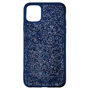 Glam Rock smartphone case , iPhone® 12/12 Pro, Blue - Swarovski, 5599181