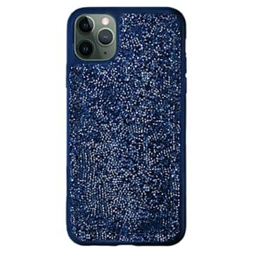 Coque rigide pour smartphone avec cadre amortisseur Glam Rock, iPhone® 12/12 Pro, bleu - Swarovski, 5599181