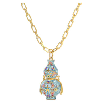 Flower of Fortune necklace, Multicolored, Gold-tone plated - Swarovski, 5599184