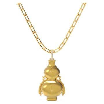 Flower of Fortune 项链, 流光溢彩, 镀金色调 - Swarovski, 5599184