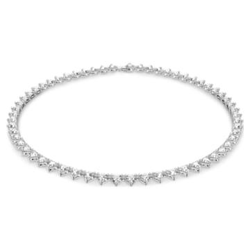Millenia Halskette, Dreieck, Weiss, Rhodiniert - Swarovski, 5599191