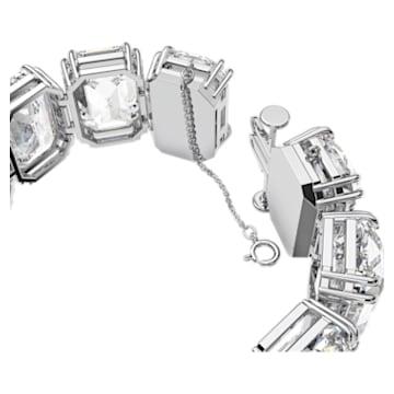 Bracelet Millenia, Cristaux octogonaux, Blanc, Métal rhodié - Swarovski, 5599192