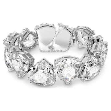 Pulsera Millenia, Cristales de talla triangular, Blanco, Baño de rodio - Swarovski, 5599194