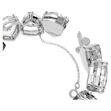 Millenia bracelet, Triangle cut crystals, White, Rhodium plated - Swarovski, 5599194