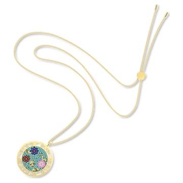 Flower of Fortune Gem pendant, Flower, Multicolored, Gold-tone plated - Swarovski, 5599273