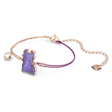 Chinese Zodiac bracelet, Purple, Rose gold-tone plated - Swarovski, 5599280