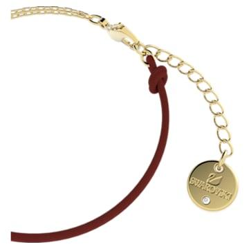 Flower of Fortune 手链, 天鹅, 红色, 镀金色调 - Swarovski, 5599281