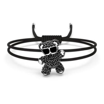 Teddy bracelet, Teddy, Black, Rhodium plated - Swarovski, 5599283