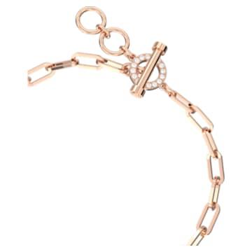 Teddy Bracelet, Pink, Rose-gold tone plated - Swarovski, 5599284
