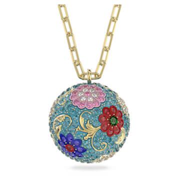 Flower of Fortune 链坠, 花朵, 流光溢彩, 镀金色调 - Swarovski, 5599484