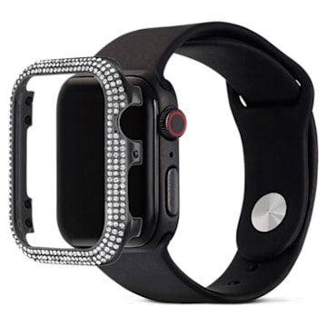 Sparkling case compatible with Apple Watch®, 40 mm, Black - Swarovski, 5599698