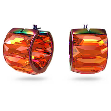 Curiosa hoop earrings, Pink - Swarovski, 5599876