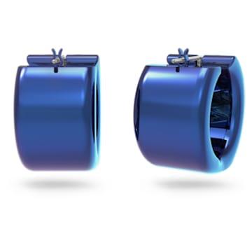 Curiosa 大圈耳环, 蓝色 - Swarovski, 5599877