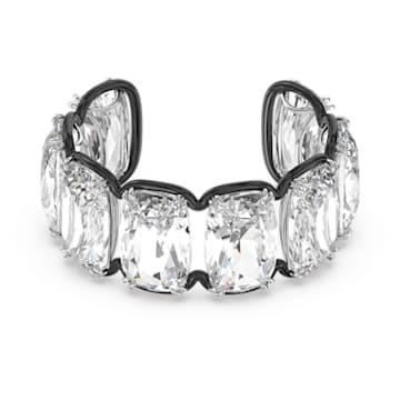 Harmonia 阔手镯, 超大悬浮仿水晶, 白色, 多种金属润饰 - Swarovski, 5600039