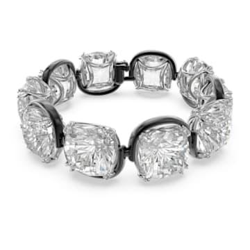 Pulsera Harmonia, Cristales de talla cushion, Blanco, Combinación de acabados metálicos - Swarovski, 5600047
