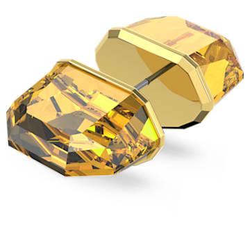 Kolczyk zapinany na sztyft Lucent, Pojedynczy, Żółty, Powłoka w odcieniu złota - Swarovski, 5600253