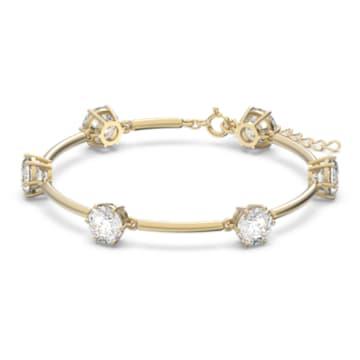 Constella armband , Wit, Goudkleurige toplaag - Swarovski, 5600487