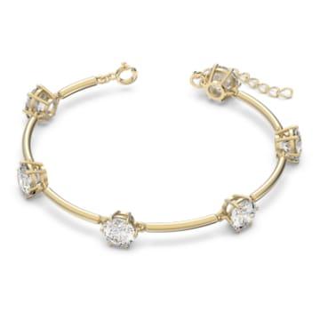 Constella 手链, 白色, 哑光镀金色调 - Swarovski, 5600487