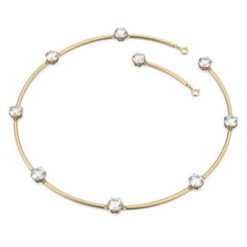 Constella 束颈项链, 白色, 镀金色调 - Swarovski, 5600488