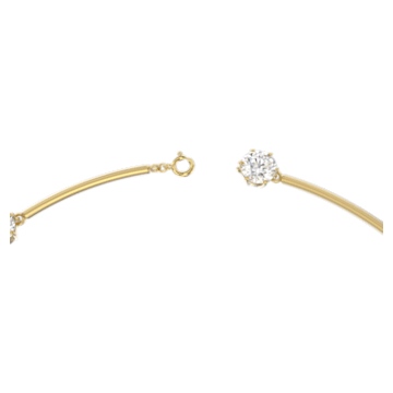 Constella 束颈项链, 白色, 哑光镀金色调 - Swarovski, 5600488