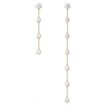 Constella 穿孔耳环, 不对称, 白色, 哑光镀金色调 - Swarovski, 5600490