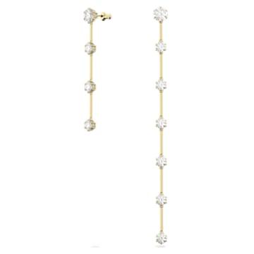 Constella Ohrringe, Weiss, Goldlegierung - Swarovski, 5600490