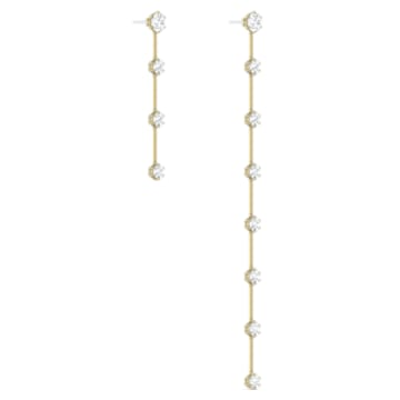 Constella Earrings, White, Gold-tone plated - Swarovski, 5600490