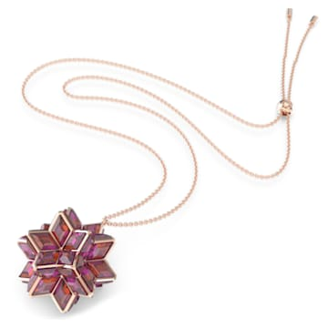 Pendentif Curiosa, Cristaux géométriques, Rose, Métal doré rose - Swarovski, 5600505