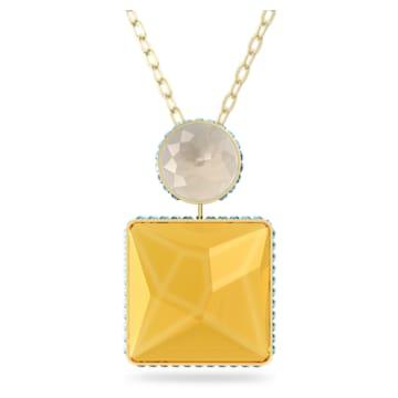 Colier Orbita, Cristal cu tăietură pătrată, Multicoloră, Placat cu auriu - Swarovski, 5600513