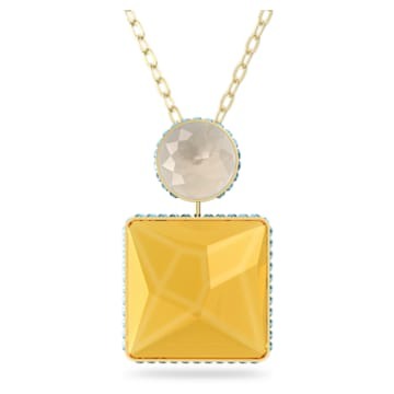 Orbita Halskette, Kristall im Quadrat-Schliff, Mehrfarbig, Goldlegierung - Swarovski, 5600513