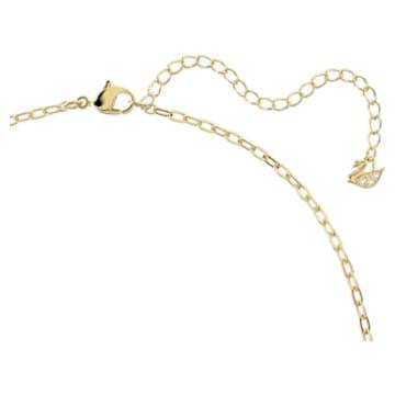 Orbita 项链, 正方形切割仿水晶, 流光溢彩, 镀金色调 - Swarovski, 5600513