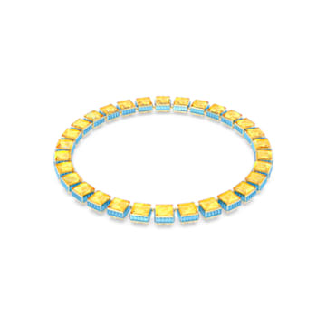 Orbita 項鏈, 正方形切割Swarovski 水晶, 漸層色, 鍍金色色調 - Swarovski, 5600515