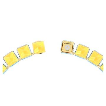 Colier Orbita, Cristale cu tăietură pătrată, Multicoloră, Placat cu auriu - Swarovski, 5600515