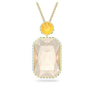 Collana Orbita, Cristallo taglio Ottagonale, Multicolore, Placcato color oro - Swarovski, 5600516