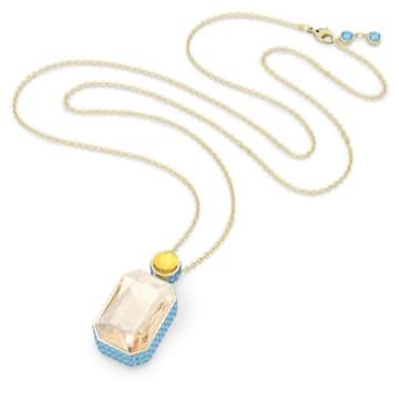 Collier Orbita, Cristal taille octogone, Multicolore, Placage de ton or - Swarovski, 5600516
