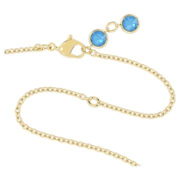Orbita Halskette, Kristall im Oktagon-Schliff, Mehrfarbig, Goldlegierung - Swarovski, 5600516