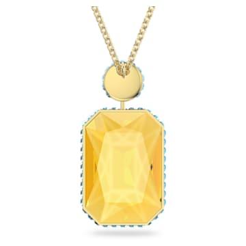 Orbita 项链, 八角形切割仿水晶, 流光溢彩, 镀金色调 - Swarovski, 5600516