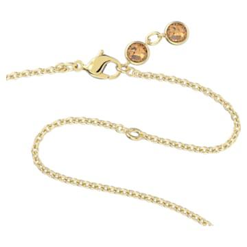 Collar Orbita, Cristal con talla de pera, Multicolor, Baño tono oro - Swarovski, 5600517