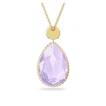 Orbita necklace, Drop cut crystal, Multicolored, Gold-tone plated - Swarovski, 5600517
