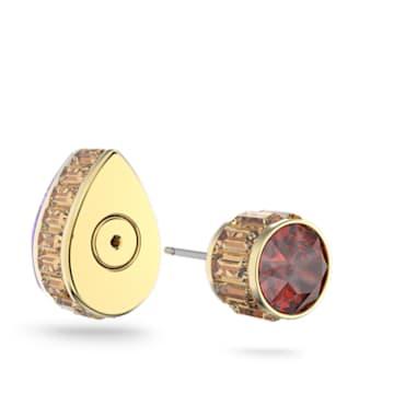 Clous d'oreille Orbita, Mono, Cristal taille goutte , Multicolore, Métal doré - Swarovski, 5600524