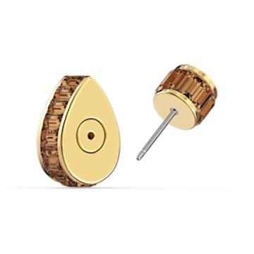 Orbita 耳环, 单个, 水滴切割仿水晶, 流光溢彩, 镀金色调 - Swarovski, 5600524