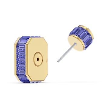 Orbita 耳环, 单个, 八角形切割仿水晶, 流光溢彩, 镀金色调 - Swarovski, 5600526